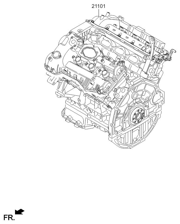 2015 Kia Sedona Sub Engine Assy