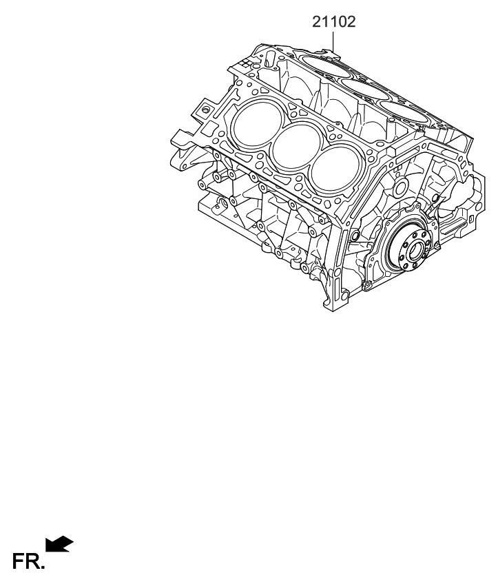 2019 Kia Sedona Short Engine Assy