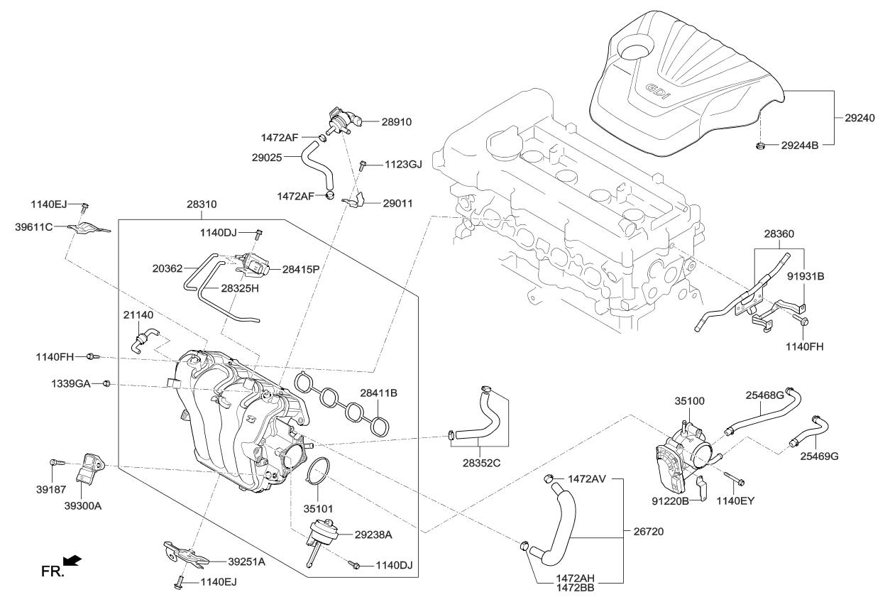 2015 Kia Soul Intake Manifold - Kia Parts Now