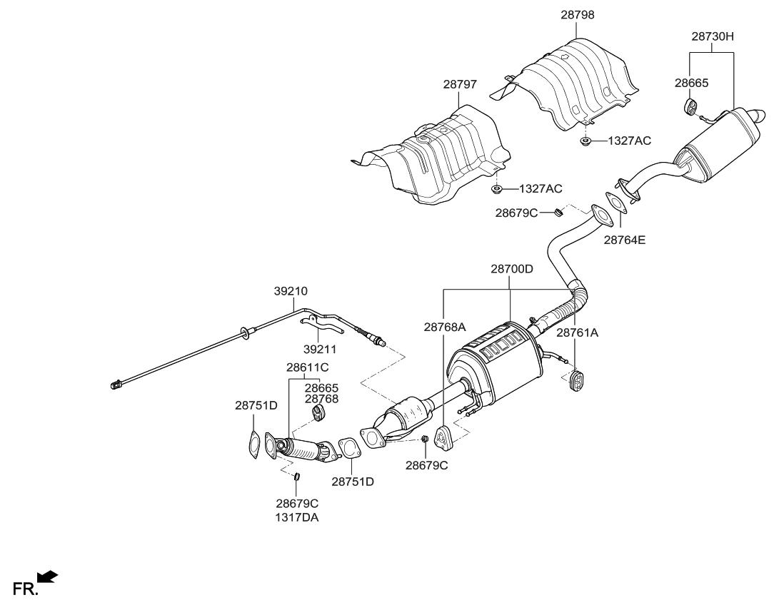 392102e901 Genuine Kia Sensor Assembly Oxygen Fuel Pump Diagram 2016 Soul Muffler Exhaust Pipe