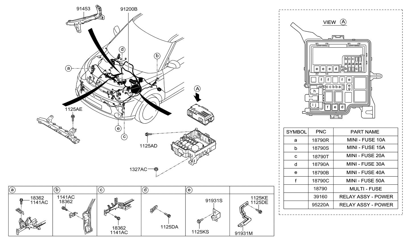 91419b2500 genuine kia wiring assembly control. Black Bedroom Furniture Sets. Home Design Ideas