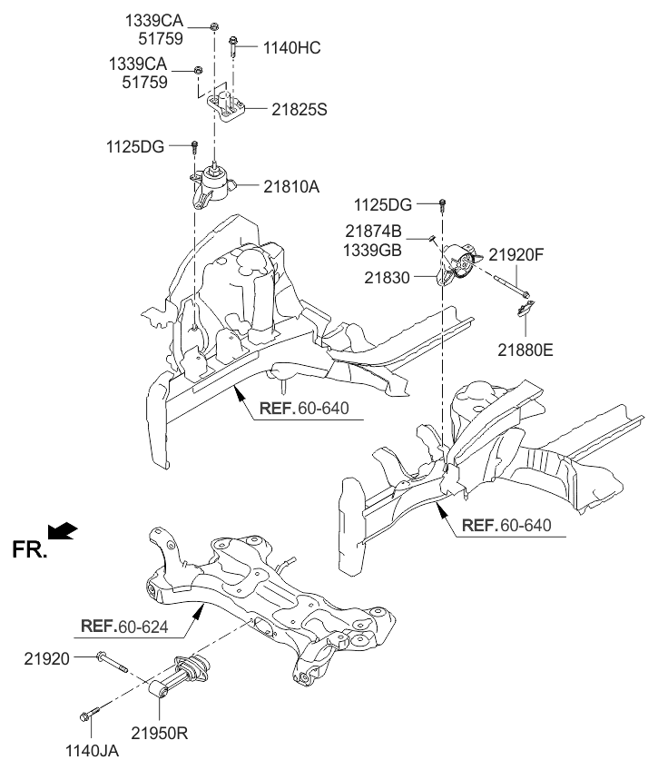 21825a4100 genuine kia bracket support engine mounting. Black Bedroom Furniture Sets. Home Design Ideas