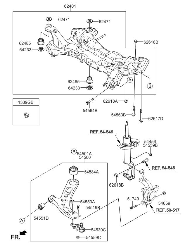 2015 Kia Soul Front Suspension Crossmember - Kia Parts Now