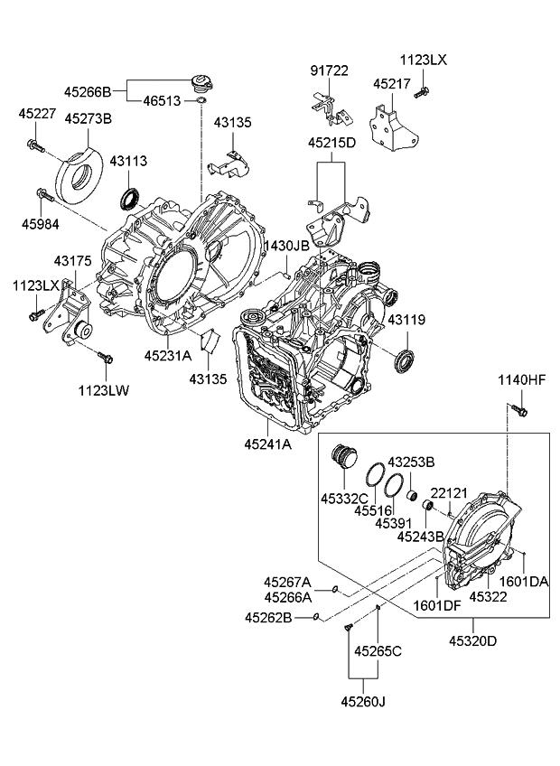 4521439980 - Genuine Kia BRACKET-TRANSMISSION SUPPORT