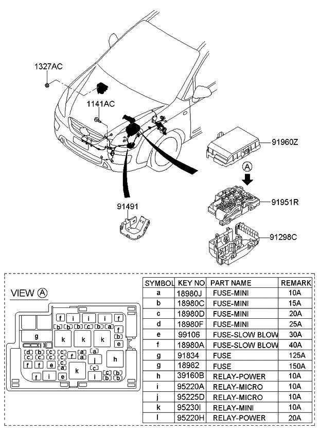 919501d150 genuine kia upper cover assembly engine room rh kiapartsnow com