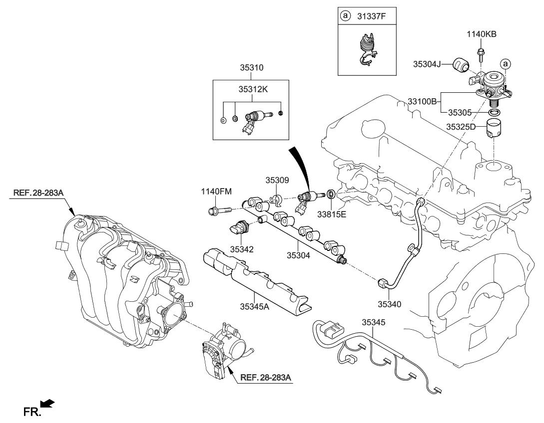 2012 kia soul throttle body injector kia parts now rh kiapartsnow com 2012 Kia Soul Engine Diagram Bank 1 Sensor 1 2012 Kia Soul Serpentine Belt Diagram