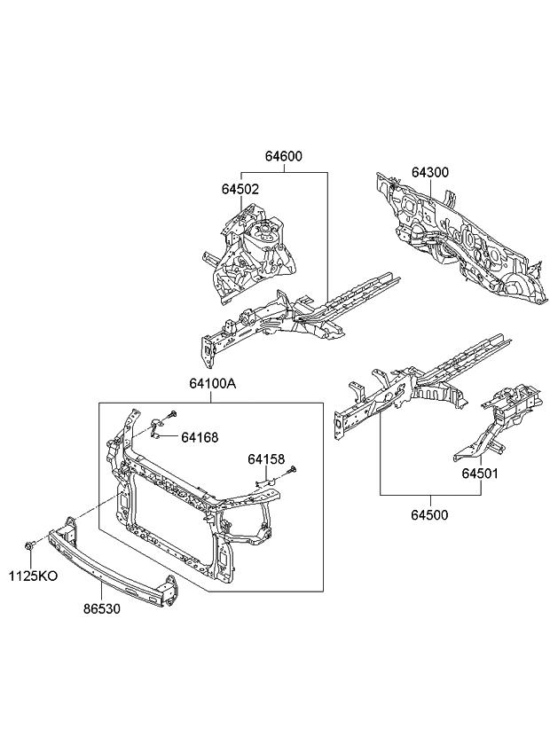 865302k350 genuine kia rail assembly front bumper. Black Bedroom Furniture Sets. Home Design Ideas