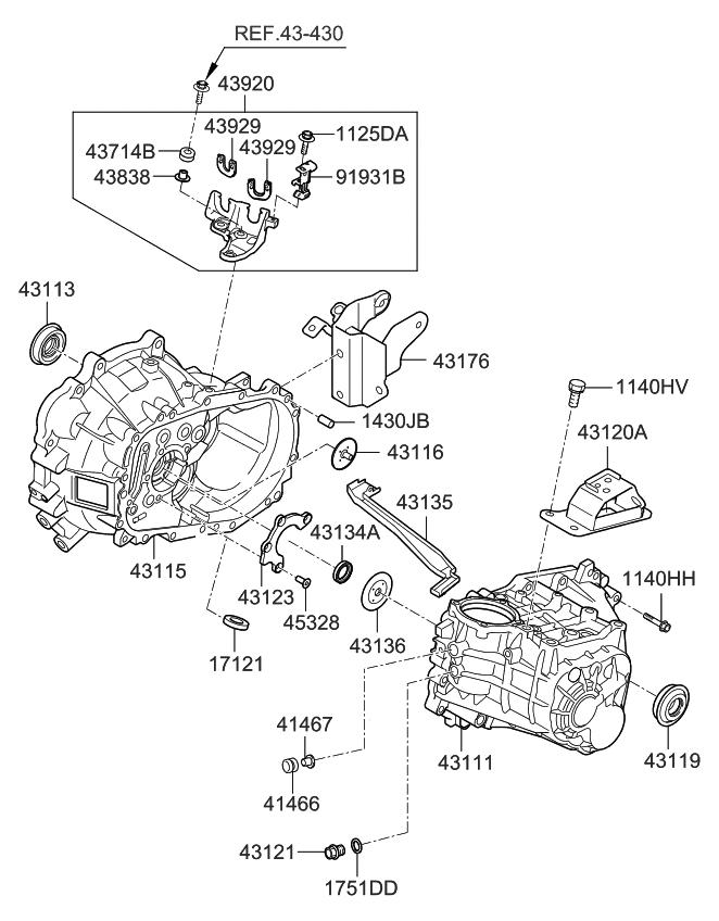 4312032411 genuine kia bracket transmission support. Black Bedroom Furniture Sets. Home Design Ideas