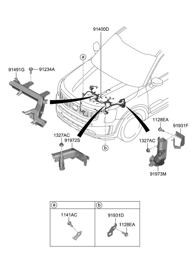 2020 Kia Telluride Control Wiring