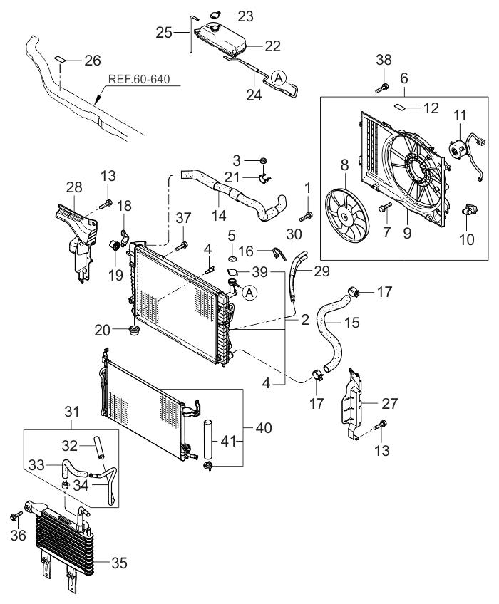 253102e800 genuine kia radiator assembly. Black Bedroom Furniture Sets. Home Design Ideas