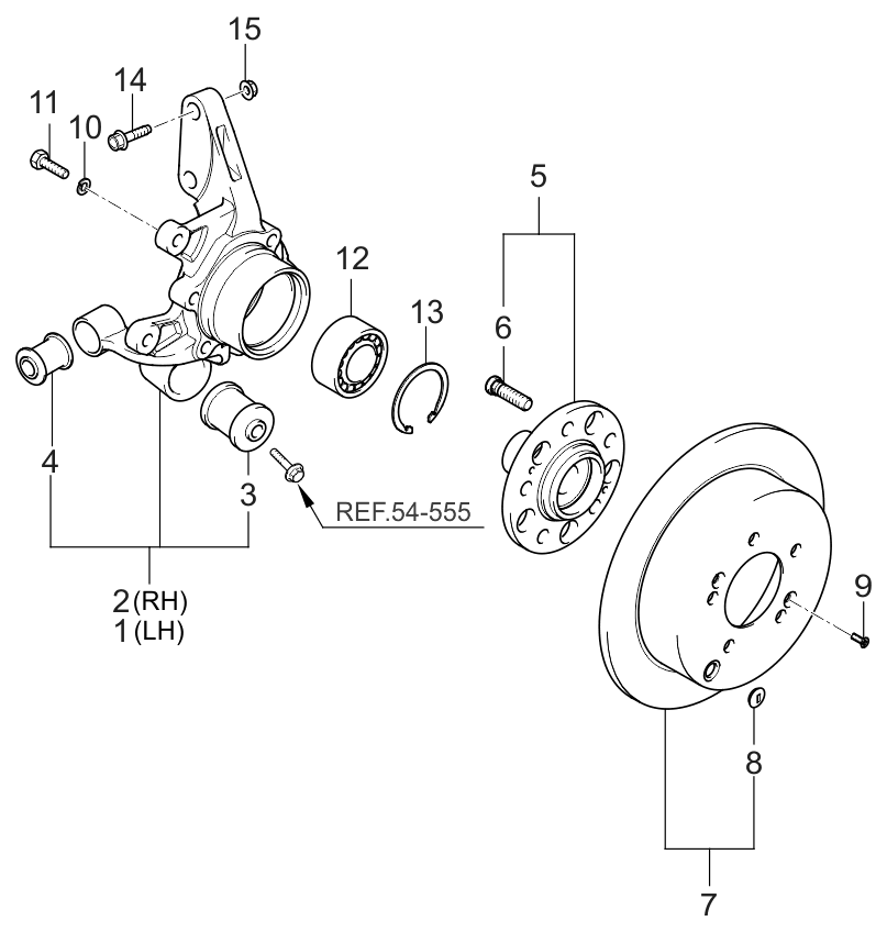 5271026530 Genuine Kia Bearing Front Wheel Hub
