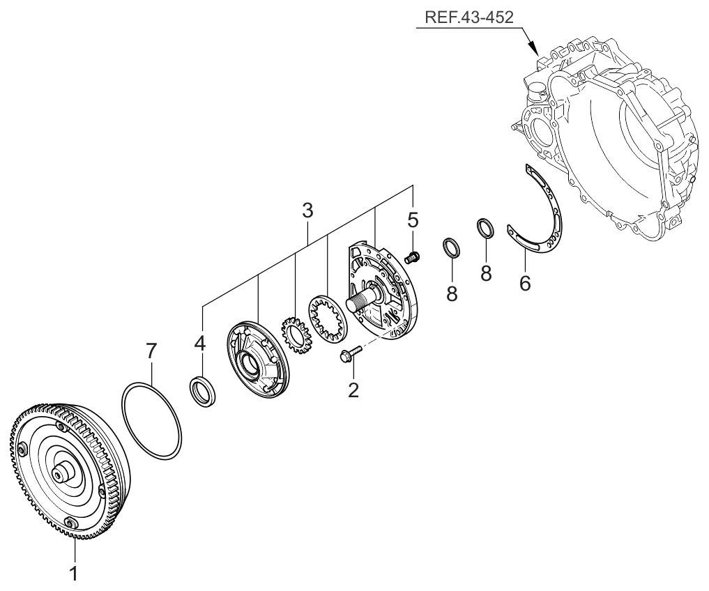 2005 Kia Sportage Oil Pump Torque Converter Parts Now Fuel Filter Thumbnail 2