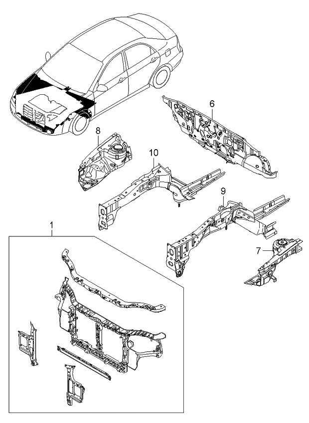 2006 Kia Spectra Radiator Support ~ Best KIA