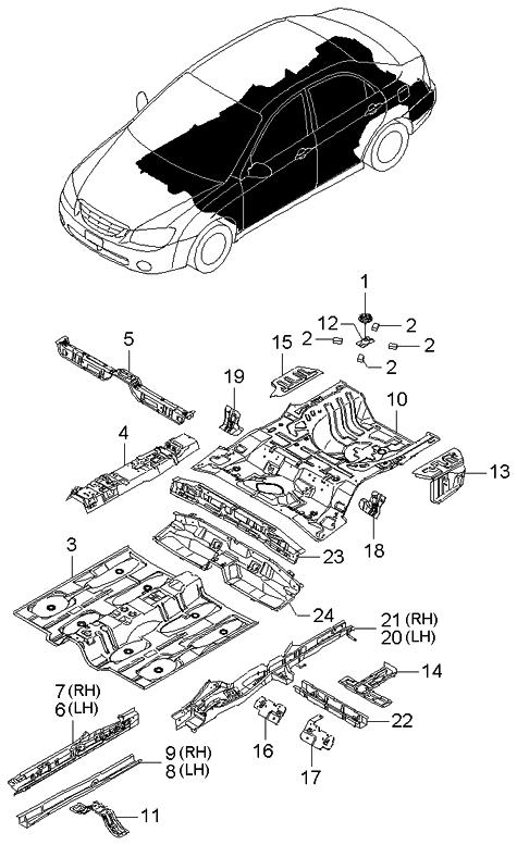 2005 Kium Spectra 2 0 Engine Diagram
