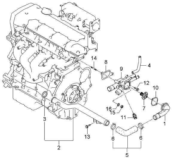 2006 Kia Spectra Engine Diagram ~ Best KIA
