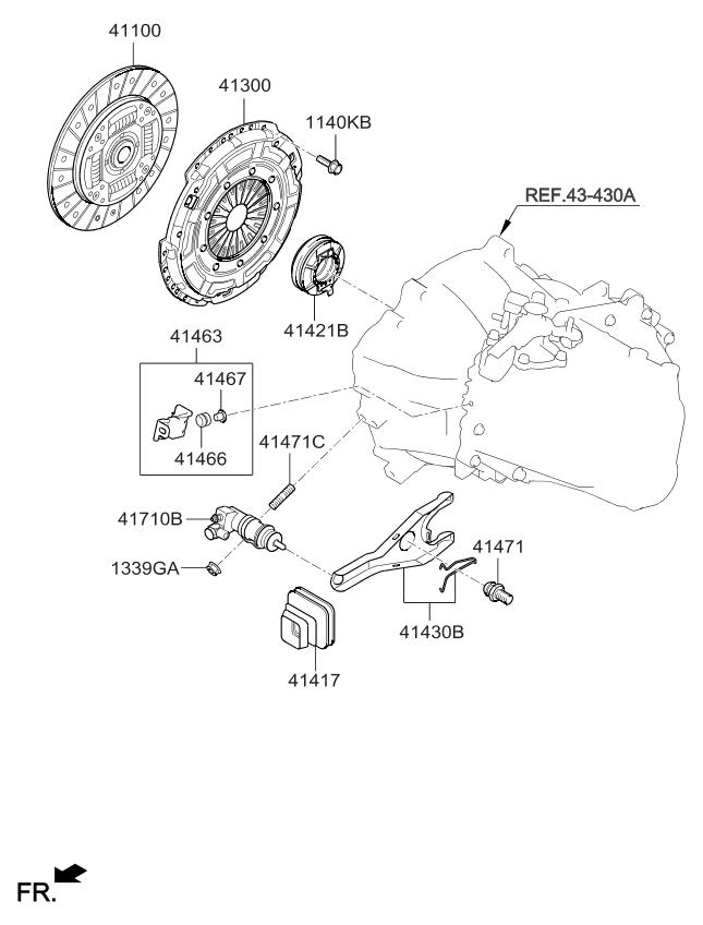 4130032101 Genuine Kia Cover Assembly Clutch