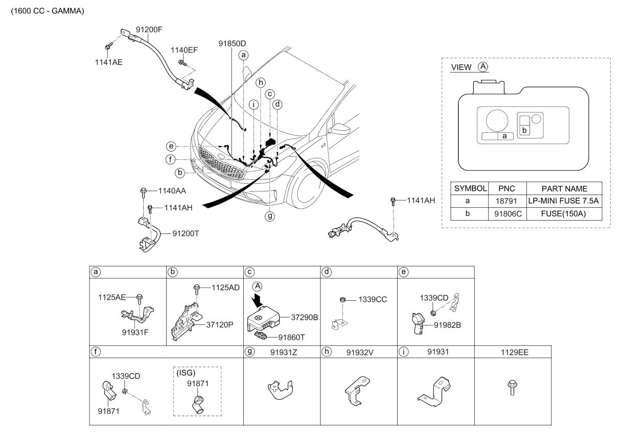 91931c2030 genuine kia bracket wiring mounting. Black Bedroom Furniture Sets. Home Design Ideas