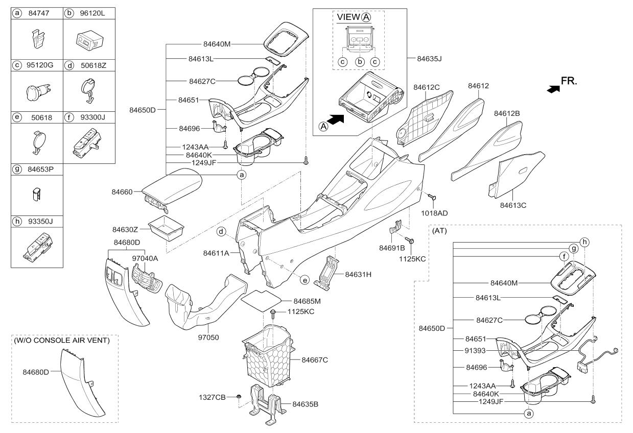 84653a7bj0 genuine kia wiring harness console. Black Bedroom Furniture Sets. Home Design Ideas