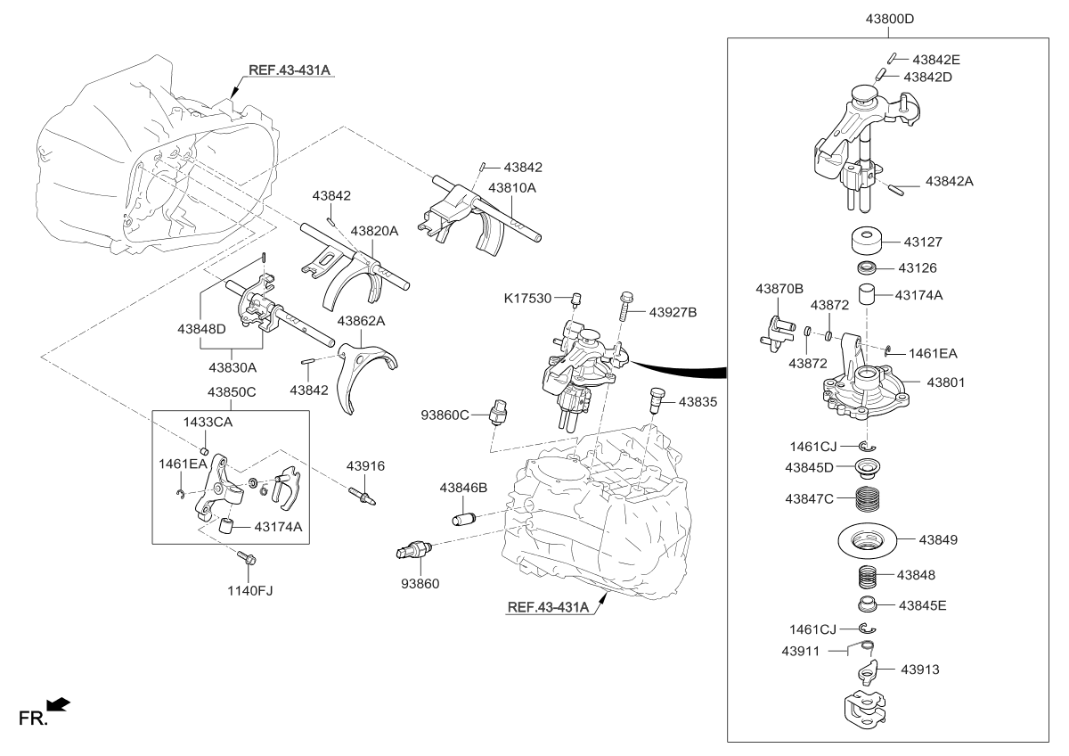 2017 Kia Forte Gear Shift Control Manual Parts Now Diagram Thumbnail 1