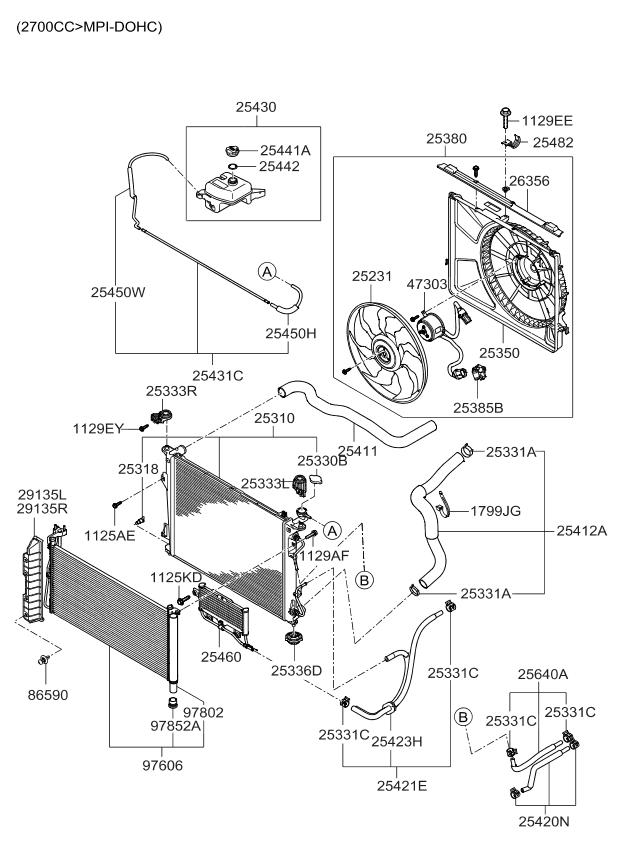 253852g200 genuine kia resistor 2008 Toyota RAV4 Engine Diagram 2008 kia optima new body style engine cooling system