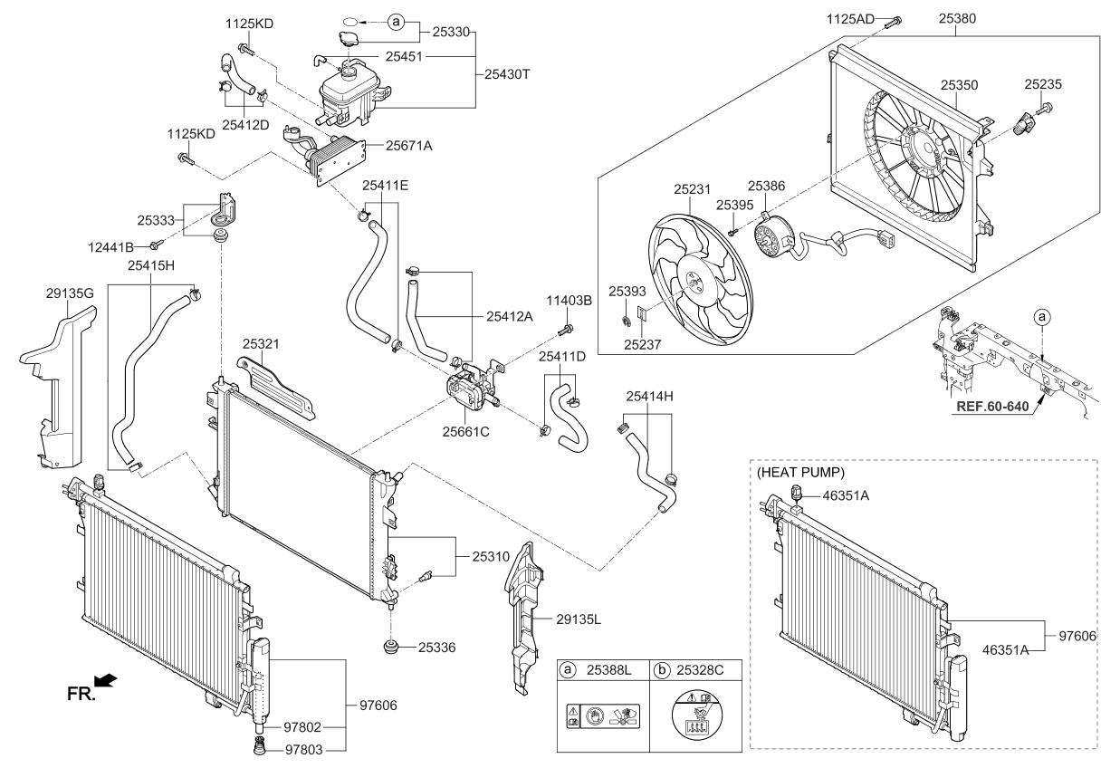 25310e4000 genuine kia radiator assembly rh kiapartsnow com Kia Sorento Parts Diagram Kia Parts Diagram