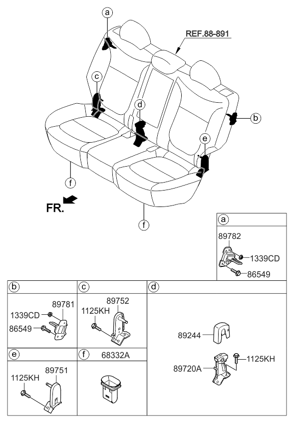 2019 Kia Soul Ev Hardware-seat