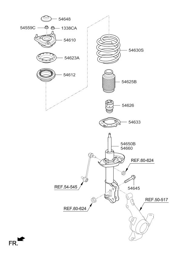 Strut Kia Parts Diagram