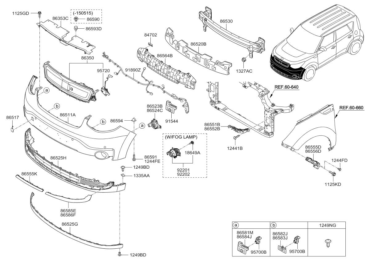 2016    Kia       Soul       EV    Front Bumper     Kia    Parts Now