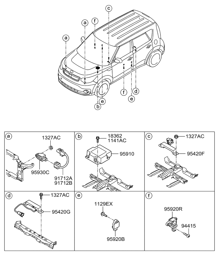 2006 kia sedona wiring harness diagram 91712e4000 genuine kia wiring harness air bag  genuine kia wiring harness air bag