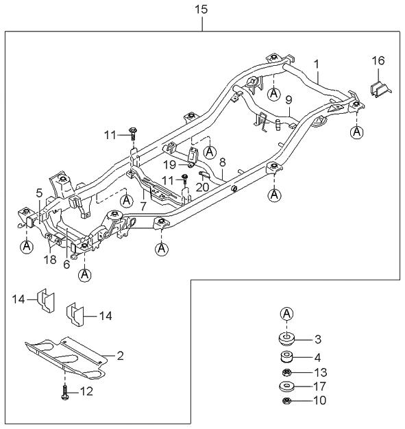 1998 Kia Sportage Main Frame - Kia Parts Now