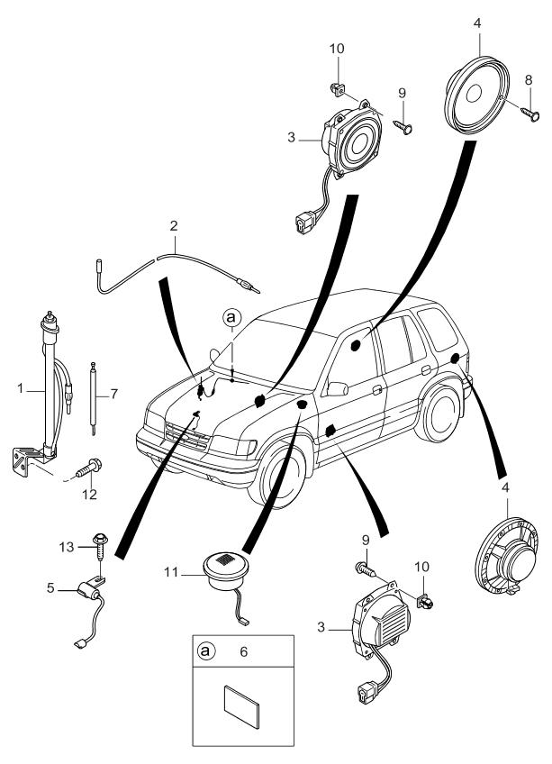 1999 Kia Sportage Antenna & Speaker - Kia Parts Now Ac Wiring Diagram Kia Sportage on