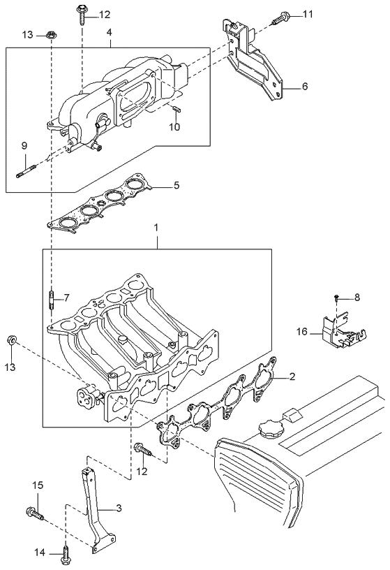 1999 kia sportage intake manifold - kia parts now 1996 kia sportage engine diagram 96 kia sportage engine diagram