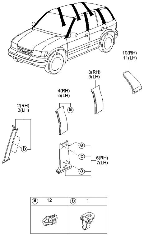 New Front LH /& RH Side Chrome Bumper Molding Fits Kia Sportage
