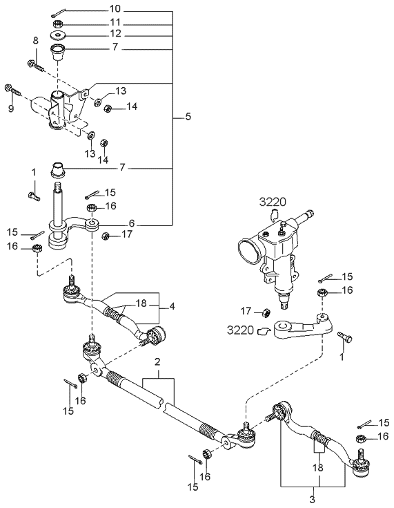 2000 kia sportage old body style steering linkage system 2000 Ford F350 Steering Diagram