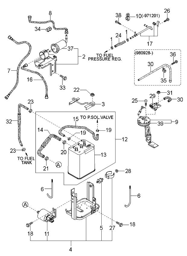 1998 Kia Sportage Fuel System - Kia Parts NowGenuine Kia Parts
