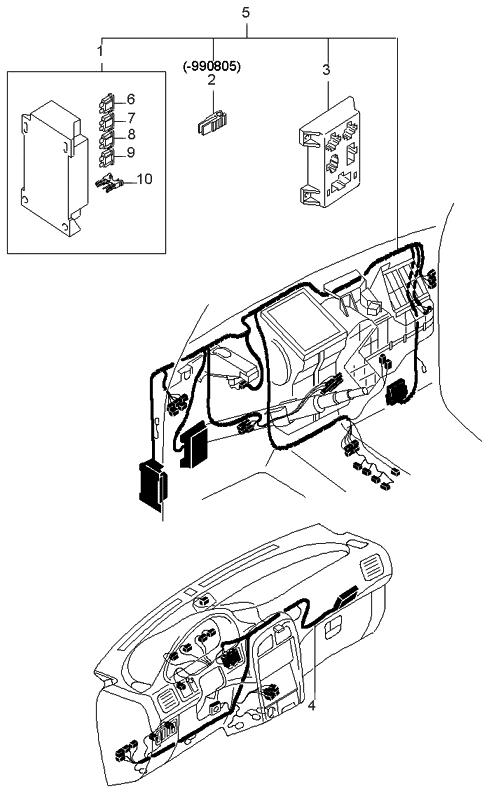 1999 kia sportage dashboard wiring harnesses kia parts now rh kiapartsnow com 2001 kia sportage wiring harness kia sportage trailer wiring harness