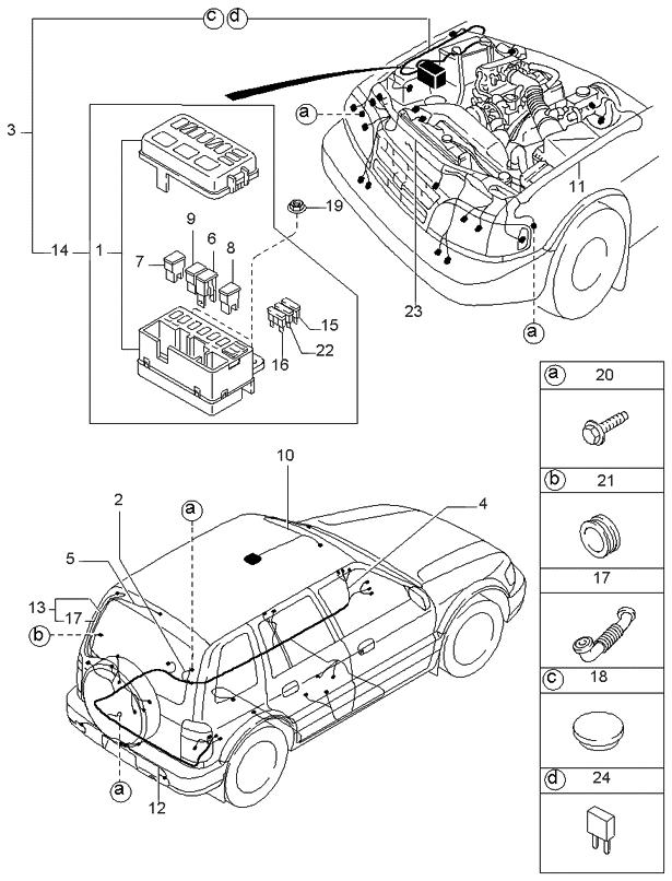 1998 kia sportage wiring harness front \u0026 rear kia parts now