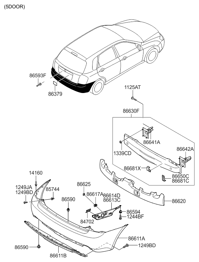 2008 Kia Spectra5 Engine Diagram