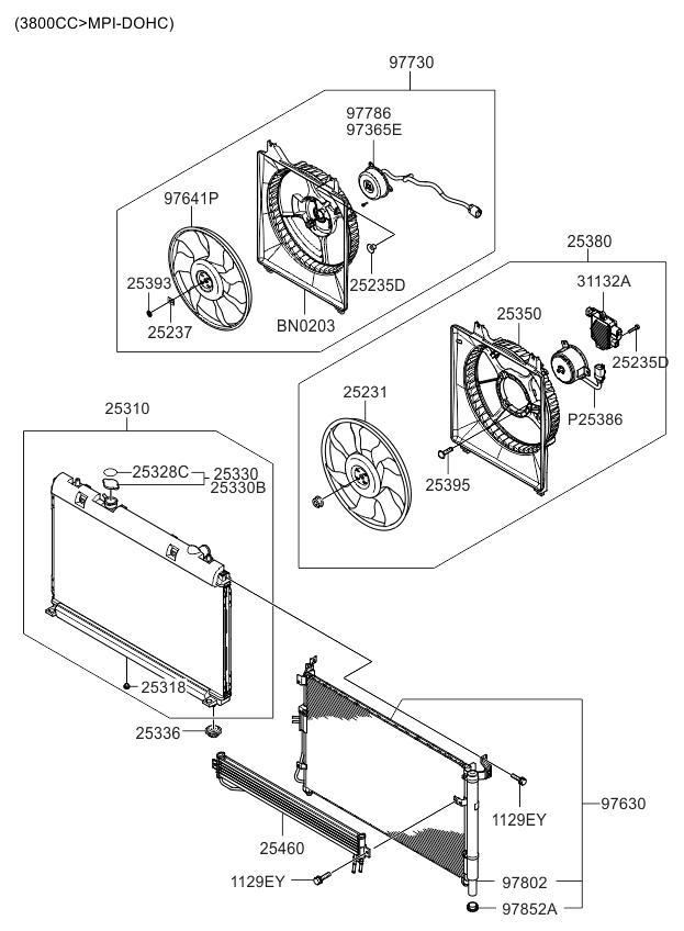 2011 kia sedona engine cooling system kia parts now BMW 528I Cooling System Diagram 2011 kia sedona engine cooling system thumbnail 1