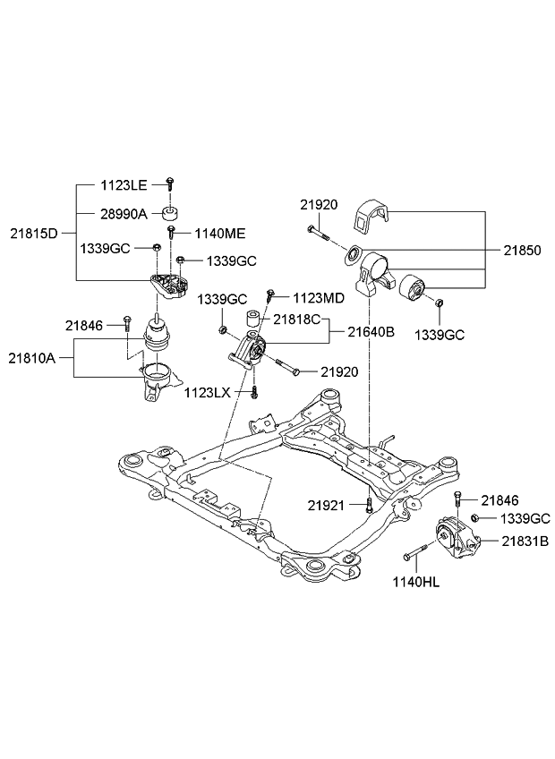 218304d500 genuine kia bracket transmission mounting 2008 Mitsubishi Lancer Engine Diagram 2008 kia sedona engine transaxle mounting