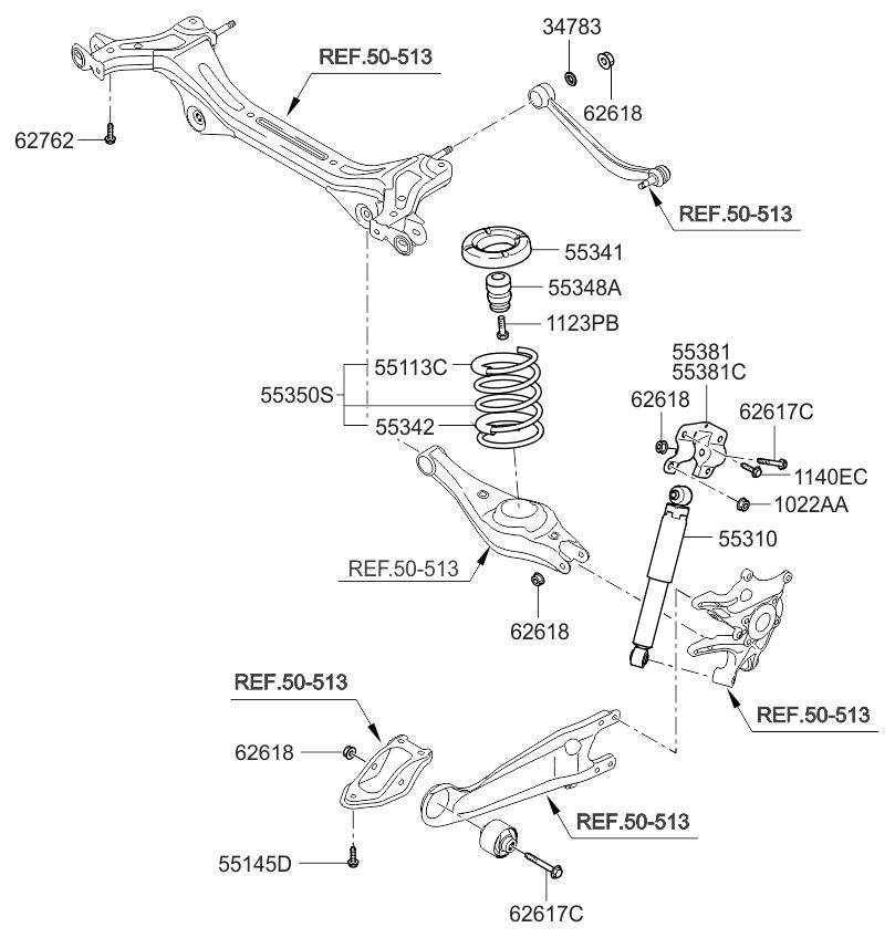 2014 Kia Sedona Rear Spring  U0026 Shock Absorber