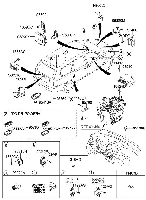 2011 Kia Sedona Relay & Module - Kia Parts Now Backup Camera Wiring Diagram Kia Sedona on