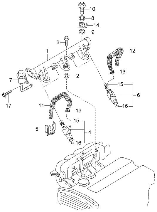 0k01d13250 genuine kia injector assembly fuel rh kiapartsnow com HVAC Schematics for 1995 Kia Sportage HVAC Schematics for 1995 Kia Sportage