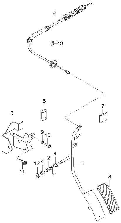 2002 Kia Sportage Accelerator Control System