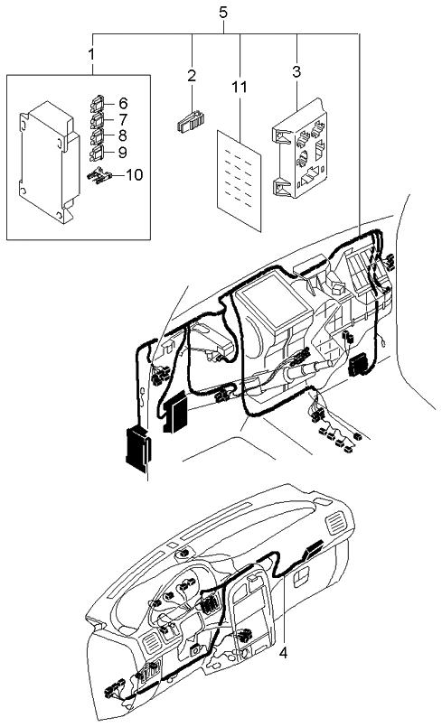 2002 kia sportage dashboard wiring harnesses kia parts now