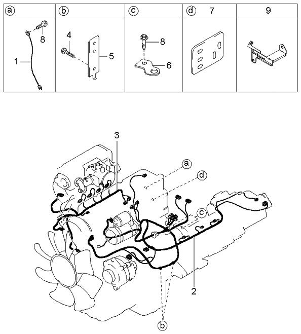 0k07b67070e genuine kia wiring assembly engine rh kiapartsnow com