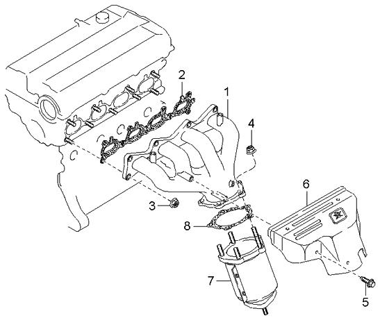 2002 Kia Sportage Exhaust Manifold Kia Parts Now