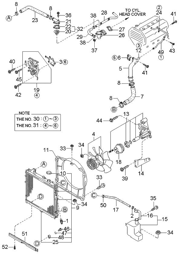 0k03815200 genuine kia radiator assembly rh kiapartsnow com 2001 kia sportage engine compartment fuse box diagram 1998 Kia Sportage Parts Diagram