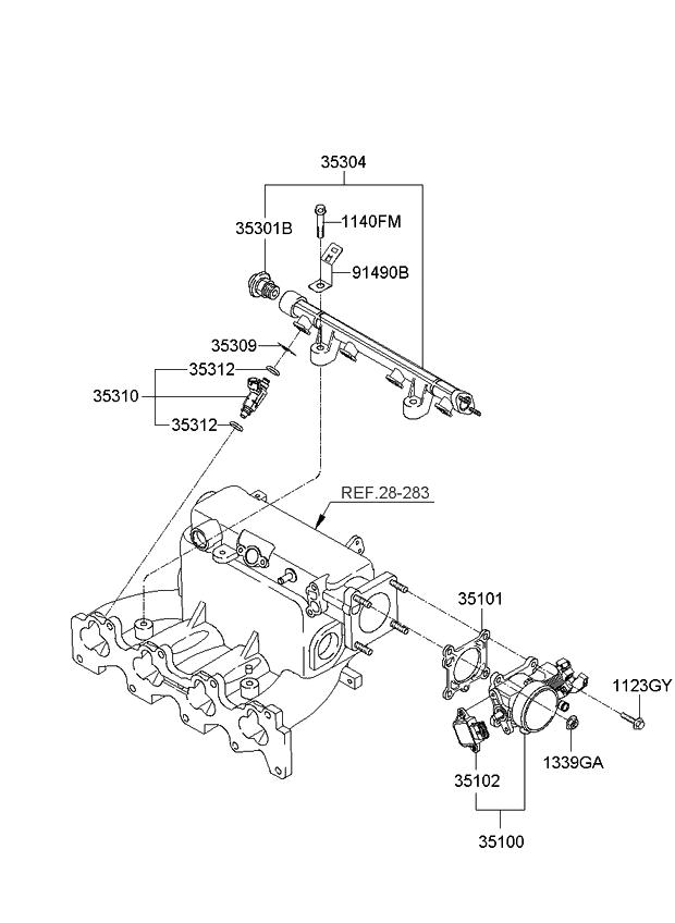 2008 Kia Sportage Throttle Body & Injector - Kia Parts Now