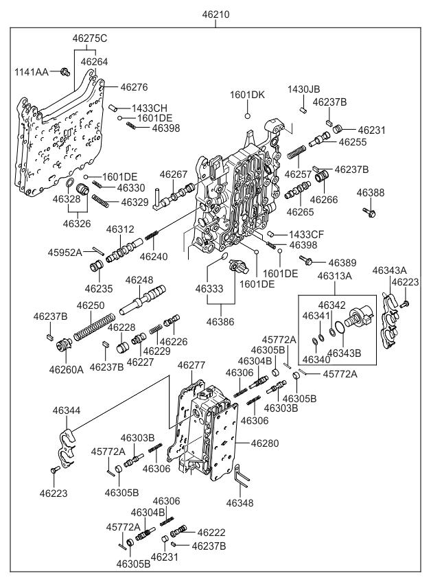2008 Kia Sportage Transmission Valve Body - Kia Parts Now